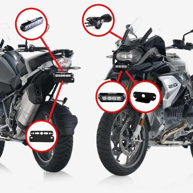 Estrobos traseros y delanteros de moto BMW
