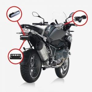 Paquete de estrobos traseros para moto BMW