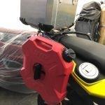 Tanque de gasolina en moto